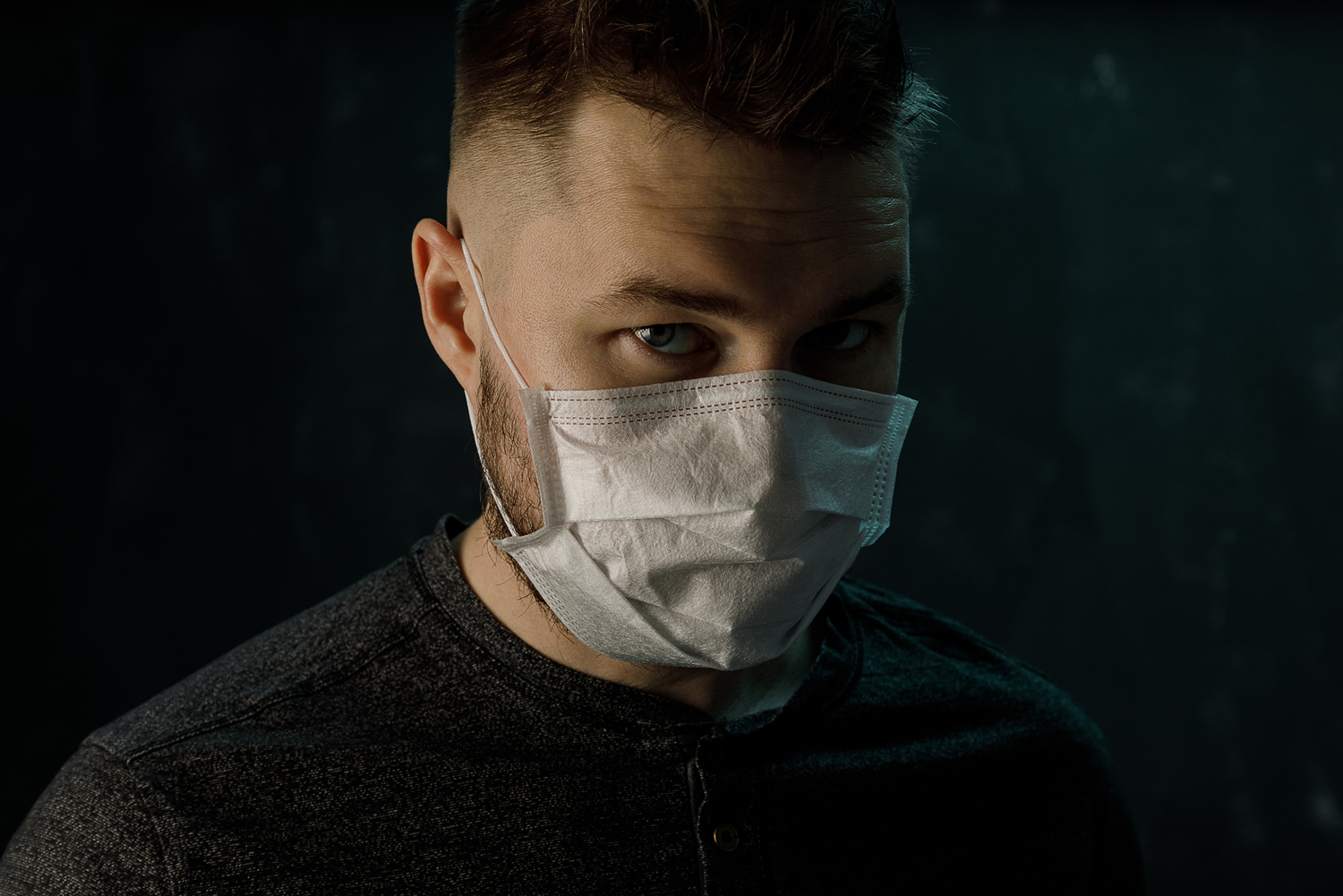 Male wearing surgical mask